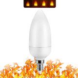 Factory Direct Sales 3W E27/E26/E14/E12/B22 2835-40LEDs LED Flame Lamp Flame Bulb