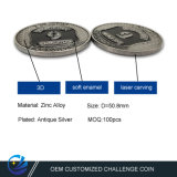 Factory Price Customized Metal Art Craft Zinc Alloy Challenge Coins Laser Carving Logo for Promotional Gift