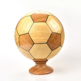 Home and Office Decoration Bamboo Football Shape Craft