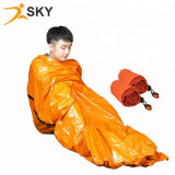 Survival Emergency Bivvy Bag PE Mylar Sleeping Bag 84X36inch with Whistle