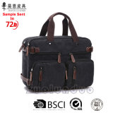 Guangzhou Factory Stocks and Without Any MOQ Classic Canvas with Leather Fashion Designer Briefcase Waterproof Fashionable Tote Business Men Bag