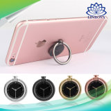 New Design Rotating Metal Finger Ring Mobile Phone Holder Watch Shape Stand Holder Cell Phone Bracket