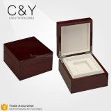 Custom Luxury Lacquered Finish Wood Single Watch Packaging Boxes Wholesale