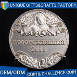 Custom Metal 3D Antique Silver Souvenir Coin Wholesale Coin