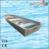 2.0mm Thickness V Bow Aluminum Fishing Boat with Square Gunwale