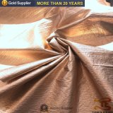 210d Nylon Taffeta Wrinkle Fabric Gold Stamping Fabric for Down Jackets