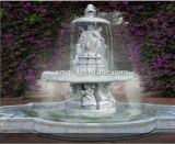 3 Tires Marble Stone Sculpture Water Fountain with Pool