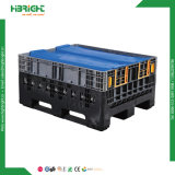 SGS Plastic Collapsible Bulk Containers Heavy Duty Mega Bins Solid Pallet Box