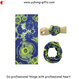 Womens Biker Headbands Blue Petal Logo (YH-HS169)