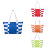 600d Striped Beach Shopping Bag with Lining