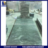 European Style Granite Tombstone with Custom Design