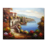 Handmade Mediterranean Landscape Oil Painting for Home Decor