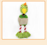 Three Color Cotton Rope Pet Vocal Toy Bird Creative Plush Doll