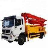 Concrete Machine 28m Cement Mixer Truck with Pump