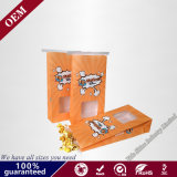 Custom Cheap Recycled Retail Grocery Snack Food Packaging Kraft Paper Pop Corn Bags with Tin Tie and Window