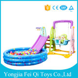 New Plastic Indoor Kids Toys Slide, Swing, Basketball Stand with Inflatable Ball Pool Water Pool with Great Price