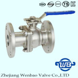 DIN F4/F5 Two Piece 304 Flange Ball Valve Fro Industry