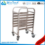 Commercial Gn 1/1 Rail Trolley Cart for Serving Tray with M Shape Layer
