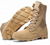 Samples Factory Price Suede Cow Leather Military Desert Boots