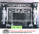 Top Quality Carved Marble Fireplace for Indoor (SK-1523)