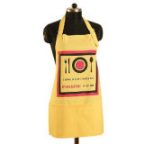 Bib Type Checker Pattern Cotton Canvas Material Kitchen Apron