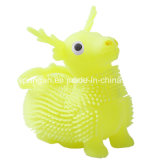 Kid Plastic Baby Toy Fuzzy Animal with Flash Light