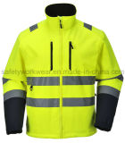 Men′s Protective Soft Shell Working Clothes Safety Jacket