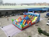 Customized Inflatable Funcity, Lilytoys Inflatable Ocean World Theme Play Equipment Trampoline