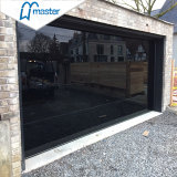 16X7 Double Tempered Mirror Glass Panel Aluminum Sectional Garage Door with Pedestrian Door Prices