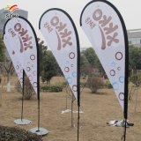 Outdoor Cheap Custom Aluminium Windproof Double Side Digital Printing Polyester Swooper Teardrop Feather Knife Flying Beach Flag Banner Flag Pole