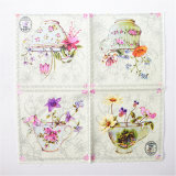 Colorful Flower Printed Party Paper Tableware Napkin Serviette