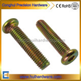 Color Zinc Plated Hex Socket Flat Head Furniture Screw