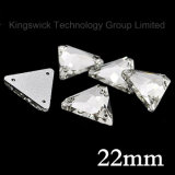 22mm Clear Triangle Sew on Glass Flatback Crystal Rhinestone