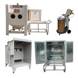 Sandblasting and Manual Powder Coating/Spraying Line with Recovery for Complete Surface Finishing