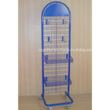 Point of Sales Grid Wall Panel Elegant Shape Rolling Wire Display Rack (PHY332)