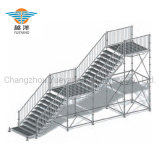Outdoor Event Galvanized Steel Staircase for Public Use