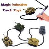 Electrical Inductive Tank Truck Car Toys with Magic Pen Follow Drawing Line for Kids Novelty Toys
