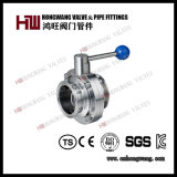 Stainless Steel Sanitary Food Manual Clamp Butterfly Valve Water Treatment (HW-BFV 1002)