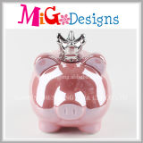 Cute Pig with Crown Ceramic Piggy Bank