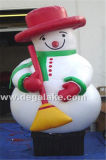 Inflatable Snowman Cartoon with Hold Broom for Christmas
