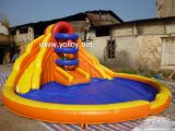 Inflatable Pool Double Lane Water Slide for Commercial Use