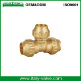 Lower Price Brass Equal Tee Compression Fitting for PE Pipe