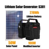 off-Grid System 100W 278wh Portable Power Pack Solar Powerstation