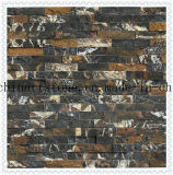 Black Golden Porter Stone Marble Mosaic Tile for Wall Decoration