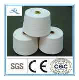 Row White High Quality Combed Cotton Polyester Yarn C60/T40 45s