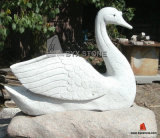 Granite Marble Stone Garden Swan Sculptures for Decoration
