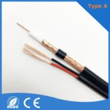High Quality Low Frequency Signals Coaxial Cable Price Rg59+2c, Rg59 Siamese CCTV Cable, Rg59 with Power