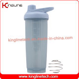 New design 700ml plastic protein shaker bottle with metal mixer ball(KL-7059)
