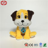 Yellow Sitting Embroidered Feature Super Soft Stuffed Dog Toy
