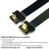 Xaja Good Price 80cm Ultra Thin Cable HDMI Ribbon Flat Fpv Cable Mini Male to Mini Male Super Soft Cable 31.5′′